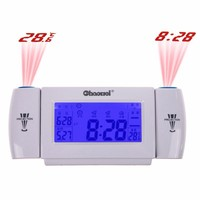 Digital Alarm Clock Projection LCD Screen Display 8 Second EL Backlight Snooze Dual Table Clock Clapping Voice Controlled Watch