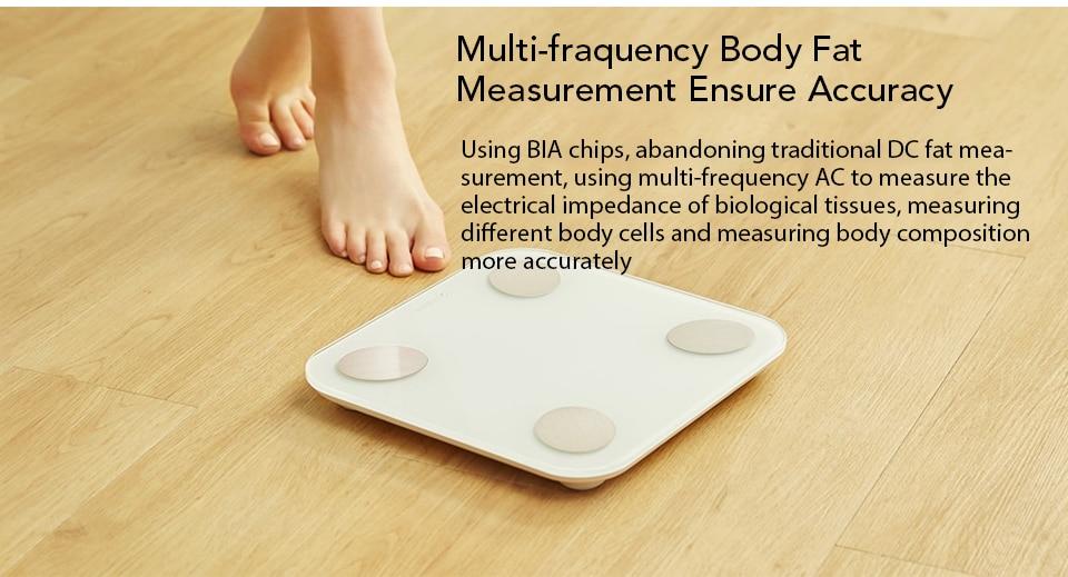 Xiaomi YUNMAI Fat Scale Mini 2 Balance Smart Body Fat Scale Smart Data Analysis APP Control Digital Weighing Tool Xiomi Xaomi (7)