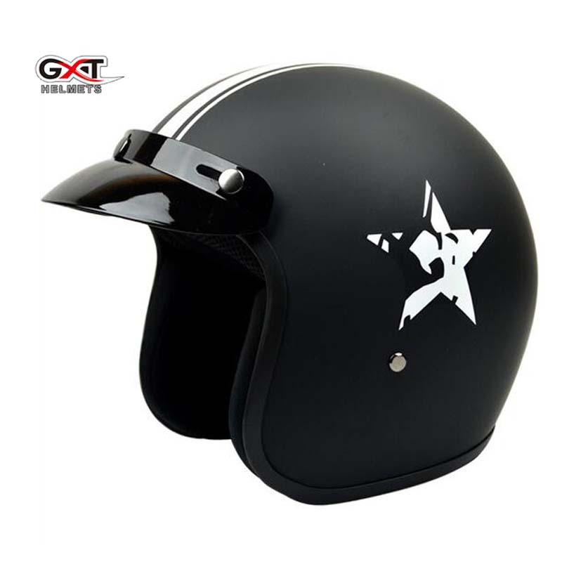 2017 New GXT harley style 3/4 motorcycle helmet motorbike helmets Four Seasons retro helmets of Glass fiber reinforced plastic цена