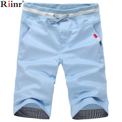 Riinr new arrival summer all cotton 9 colors classic style men s casual drawstring mid teenagers.jpg 250x250