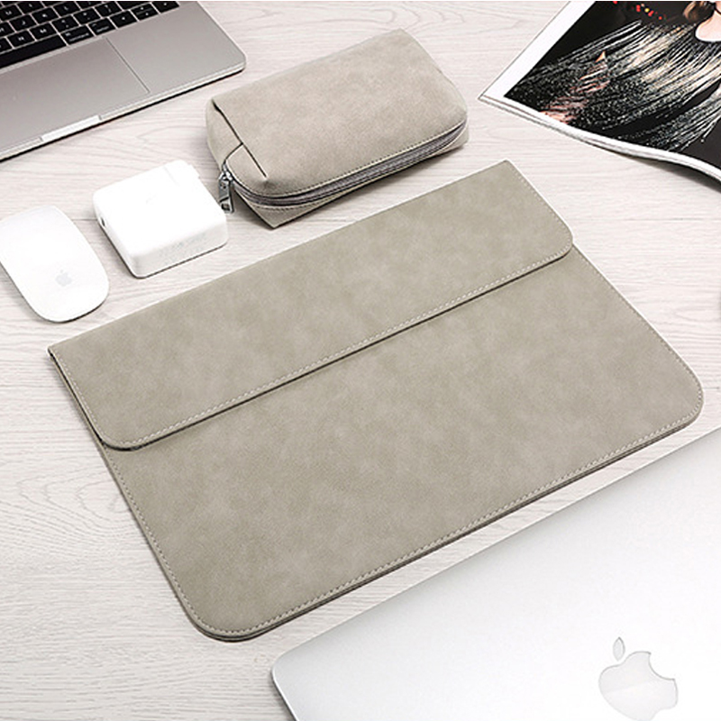 New Scrub Laptop Sleeve Bags For Macbook Air 13 Case 11 12 15 New Pro 15 Touch Bar 2018 Notebook Bag For Xiaomi 13.3 15.6 Cover