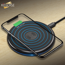 KISSCASE Qi Fast Wireless Charger For iPhone X/XS Max 8 Plus USB Charger Wireless Pad Portable Quick Charging For Samsung S8 S9