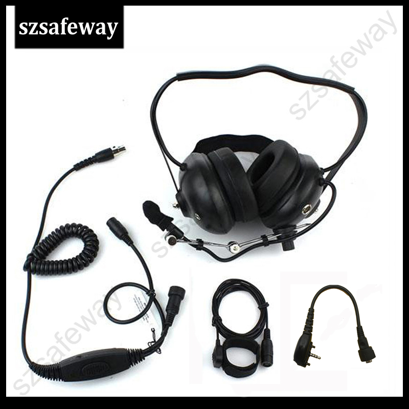Heavey Duty Walkie Talkie Noise Cancelling Headset For Vertex VX231
