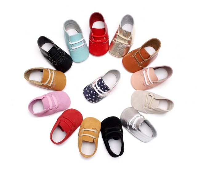 50 pairs/lot high heel Boots USA flag airhole Design genuine leather baby moccasins lace-up soft sole First walkers baby shoes