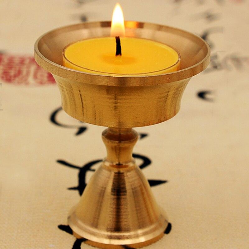 Ремесло Подсвечник канделябр искусство подсвечник вечерние многоразмерные Золотой медный сплав фестиваль орнамент домашний декор