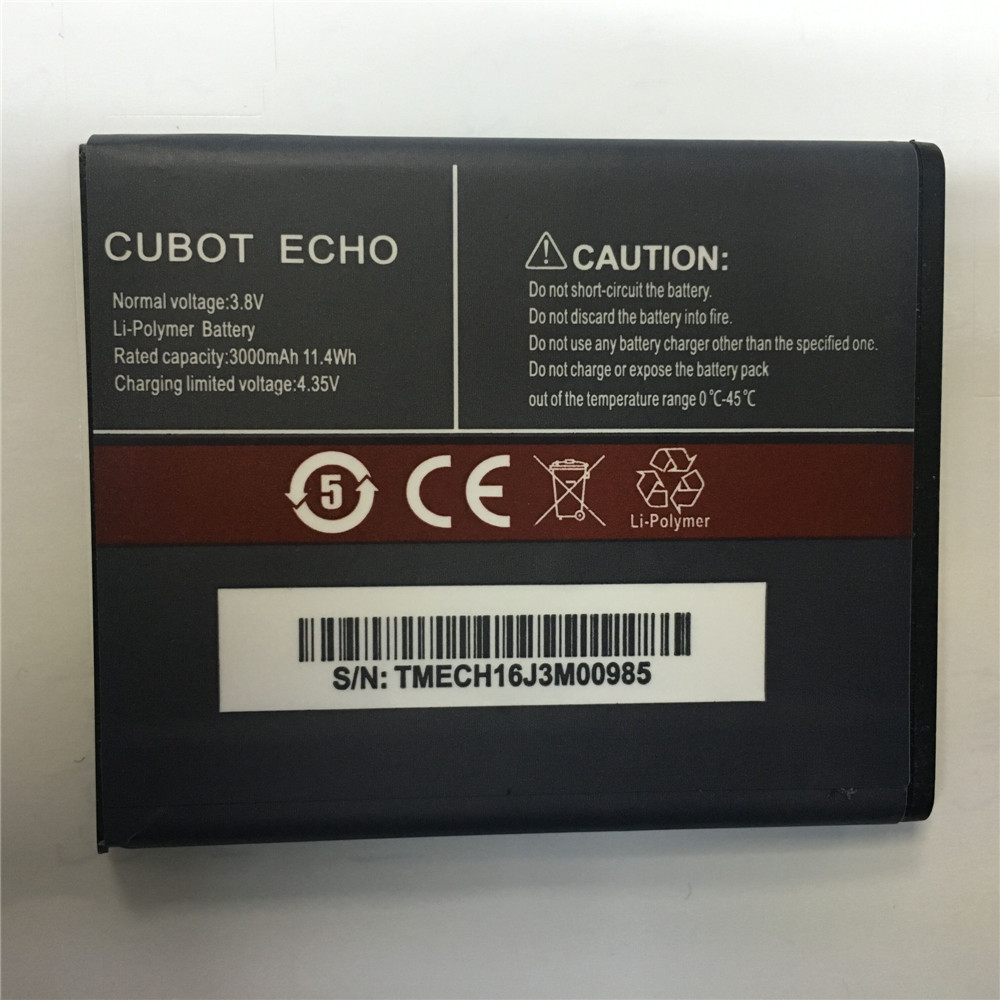 100% New Original CUBOT ECHO Battery 3000mAh Replacement backup battery For CUBOT ECHO Cell Phone In Stock