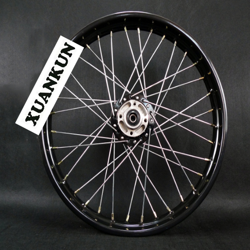 XUANKUN Motorcycle Wheel Hub Front Wheel 185-19 Black цена