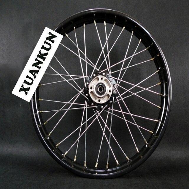 XUANKUN Motorcycle Wheel Hub Front Wheel 185-19 Black