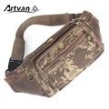 Pacotes de Cintura da lona Homem da Mala Bolsa Homens Da Moda Cinto de Dinheiro Pacote Camouflage Durable Cor Fria W27