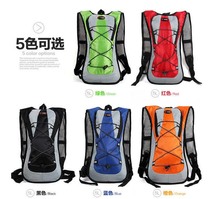 1 Piece 5L Bicycle Riding Cycle Equipment For Holding Water Bag Road Backpack