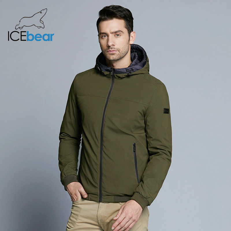 ICEbear 2019 Новинка мужская ветрозащитная тёплая куртка весенняя классическая парка MWC18011D