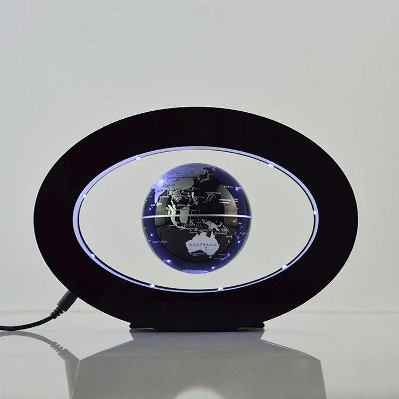 2017 lampara nouvelle nouveauté décoration lévitation magnétique Globe flottant carte du monde avec Led avec électro aimant et capteur de champ