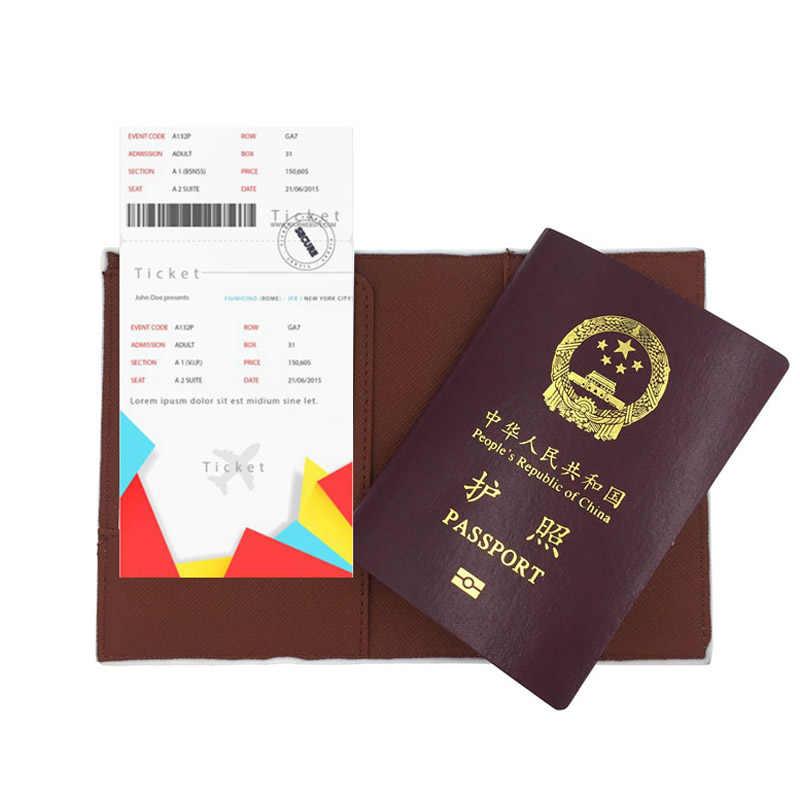 Ursos dos desenhos animados Bonito Nós Nua Passaporte Tampa do Cartão de ID Titular Caso Protetor Acessórios de Viagem Capa de Passaporte Organizador da Viagem