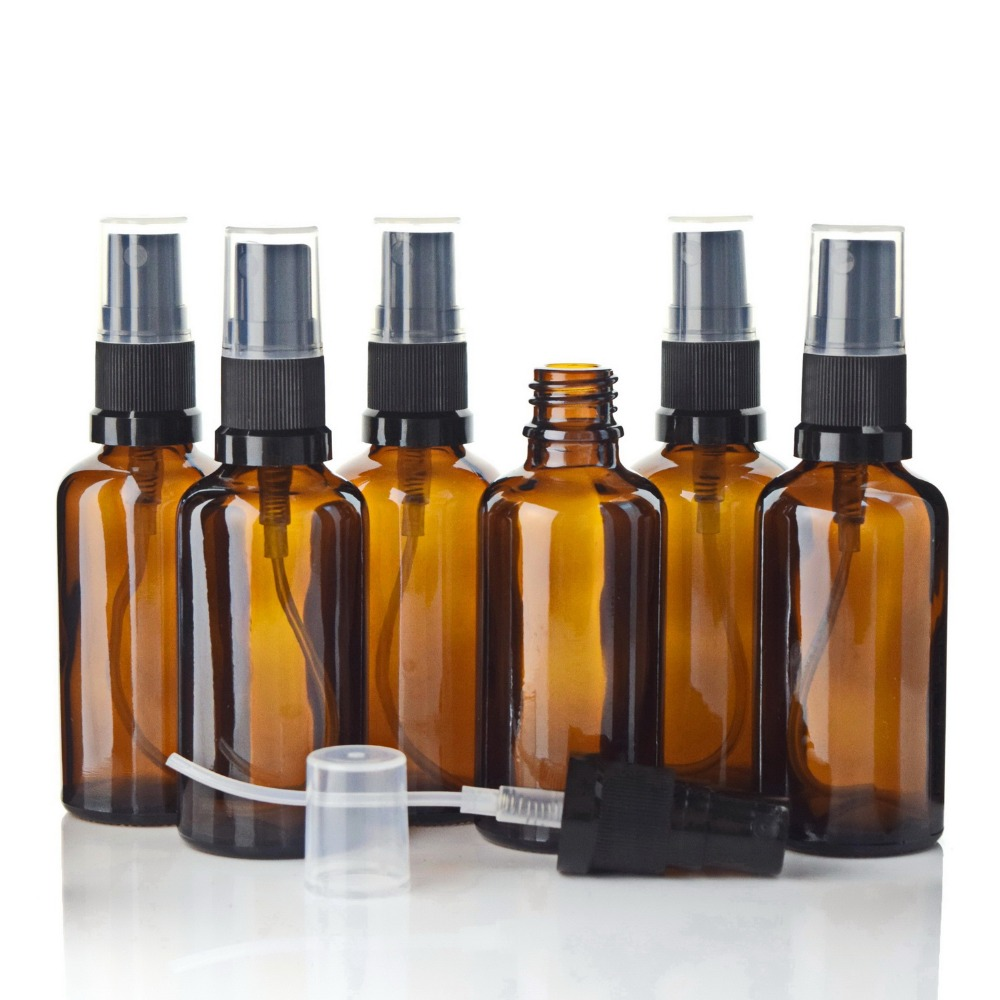 Image 2 - 12pcs 50ml Amber Glass Spray Bottle Atomizer Containers with Mist Sprayer for Hand Sanitizer Alcohol Gel Disinfectant Cleanerbottle atomizerglass sprayfor perfumes -