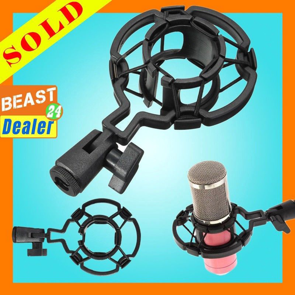 Professional Condenser Microphone Mic Shock Mount Holder 46MM Studio Recording Bracket For Large Diaphram Mic Clip BM700 BM800 image