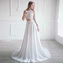 f70b5ebdb3 Add to Wish List. White Silk Beach Boho Wedding Skirts Fitted Waistband  Floor Length Bridal Separates Maxi Skirts Sweep Train