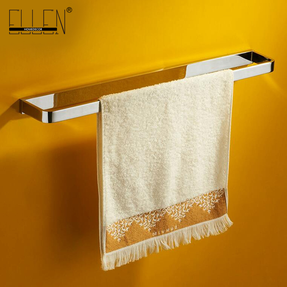 High end Solid Brass Single Towel Holder for Bathroom Accessories Towel Rack Towel Bar 89224 okaros bathroom double towel bar 60cm towel rack towel holder solid brass golden chrome plating bathroom accessories
