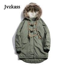 Jvzkass Winter coat female long paragraph 2018 new tooling neutral wild tide cotton clothes vintage clothing women Z8