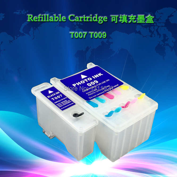 TINTA CARA T007 T009 Chipped Kosong cartridge tinta Isi Ulang untuk Stylus Photo 900,1270, 1280,1290, 1290 S, 1 SET, 2 PCS