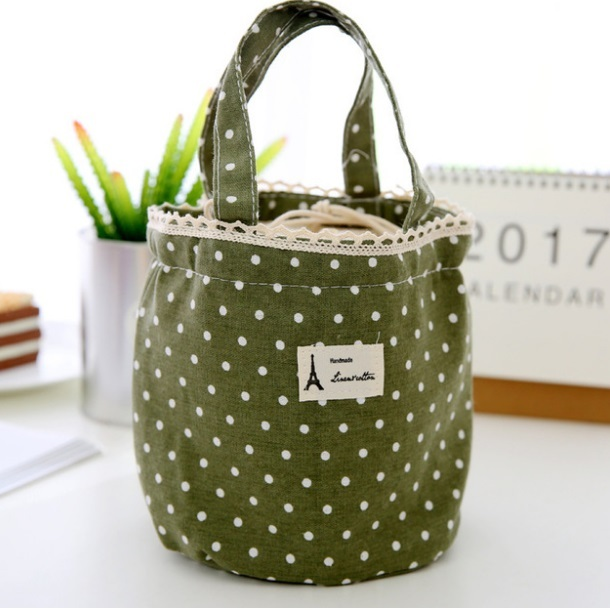 2018 Canvas Insulation 4 Colors Waterproof Lunch Bag Travel Camping Picnic Food Bags Waterproof Good Quality For Women