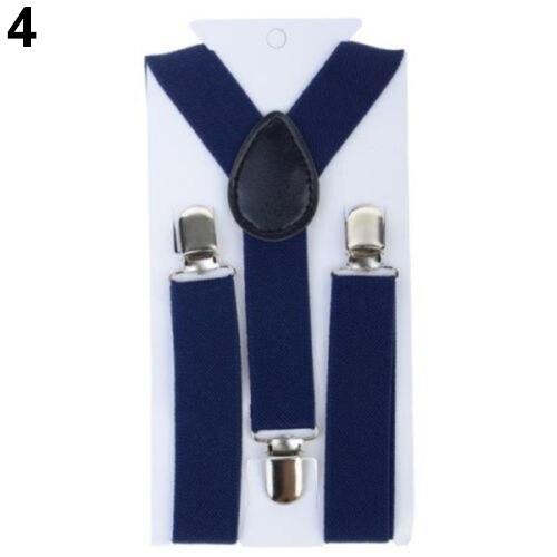 Lovely Kids Adjustable Clip-On Braces Boys Girls Y-Back Suspender Child Elastic