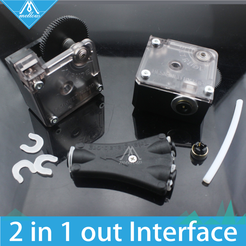 HOT! 3D printer V6 Cyclops dual head kit 2 in 1 out TL-Feeder bowden splitter multi feeder System with with Titan Extruder