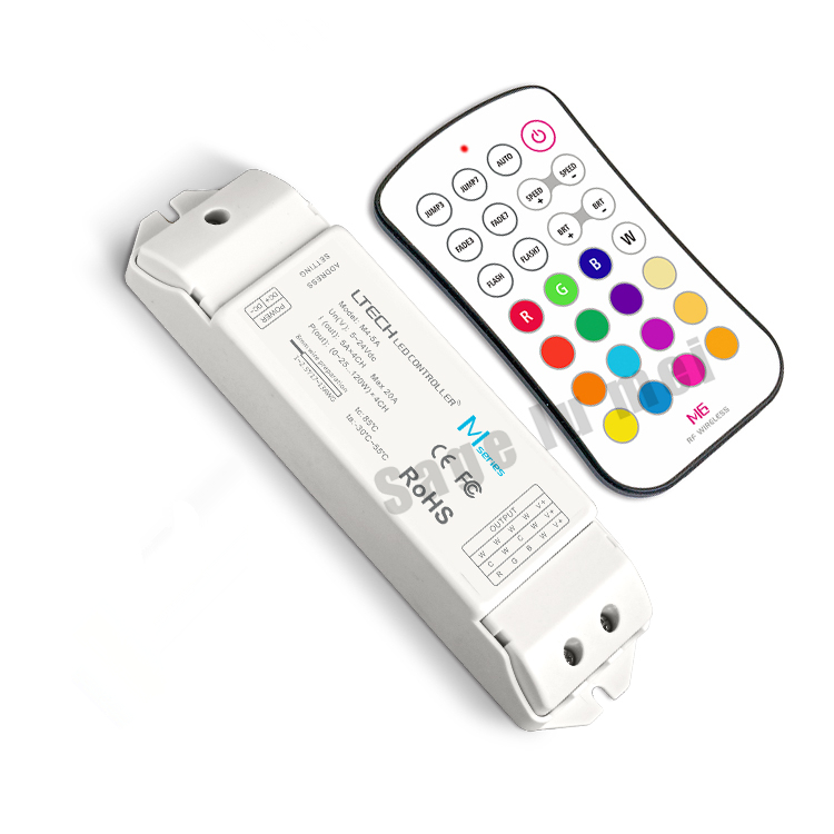 LTECH M6+M4-5A;M6 MINI RF wireless remote led RGB controller with M4-5A CV Receiving;DC5V-DC24V input;6A*3CH Max18A output m3 m4 5a m3 touch rf remote with m4 5a cv receiver led dimmer controller dc5v dc24v input 5a 4ch max 20a output