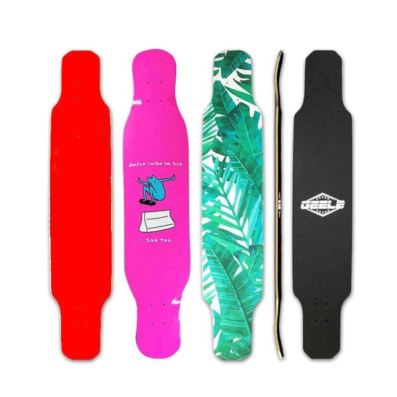 1pc 41inch Long Board Deck Electric Skateboard Men Women Long Board 107cm Long Board Deck Thermal Transfer Pattern