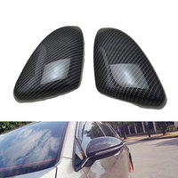 2Pcs New Carbon Fiber Style Side Mirror Cover Trim Decoration for Golf 7 MK7 2014 2015 Car Styling