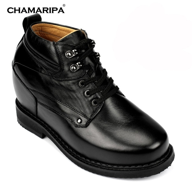 36155689bd5 CHAMARIPA Men Elevator Shoes Boot 13cm 5.12 inch Increase Height Tall  Hidden Heel Stylish Dress Shoes Make Men Taller X4101