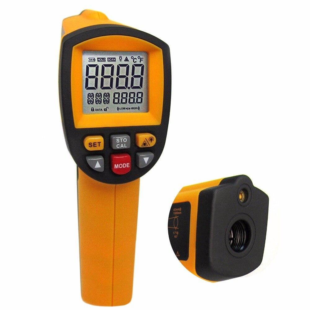 50: 1 DS профессиональная цифровая инфракрасный лазерный термометр пирометр Автомобильная 1650 градусов Цельсия