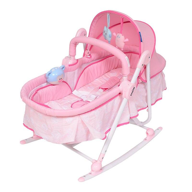 Детская кроватка Trojan ребенок многофункциональный кресла-качалки кресло, кресло детское артефакты могут сидеть полулежа От 0 до 2 лет