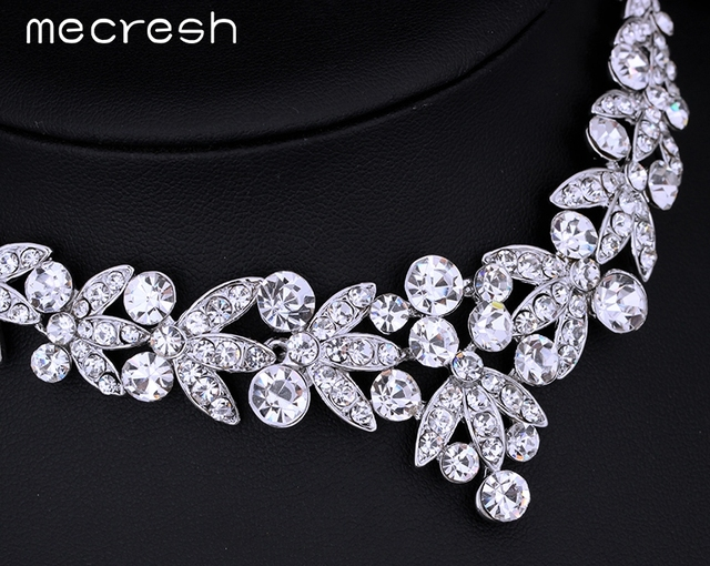 Luxurious Crystal Necklace & Earrings Bridal Jewellery Set