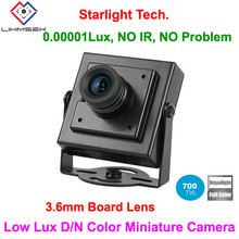 Lihmsek Cheapest! Top Free Shipping 700TVL 3.6mm Board Lens Ultra Low Lux Day and Night Color image Mini Square Camera