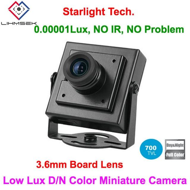 Lihmsek Mais Barato! Superior frete grátis 700tvl 3.6mm placa lente ultra baixo lux dia e noite cor imagem mini câmera quadrada