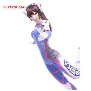 Image 1 - Fantasia vevefhuang d. va de lycra spandex, dva, cosplay, zentai, macacão feminino de halloween