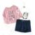 2017 Primavera Verano Ropa de Bebé Girls del Algodón T-shirt + Shorts + Medias Ropa de los Sistemas 3 unids conjunto Infantil de Manga Larga 1-3y