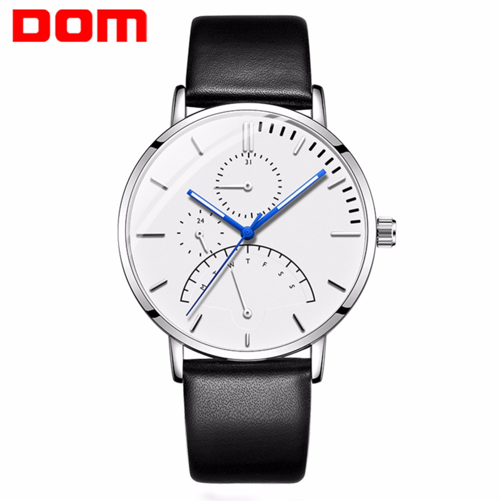 Men Watch DOM Luxury Multi Function Mens Business Military Quartz Watch Luminous Hands Waterproof Week Calendar Clock M-511 цена