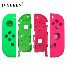 IVYUEEN Replacement Housing Hard Shell Skin Case for Nintend Switch NS Joy-Con Controller Green Faceplate Cover for joycon