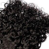 Water Wave Bulk Hair For Braiding 3 Pcs Human Braiding Hair Bulk 100% Brazilian Virgin Hair Natural Black Color VENVEE