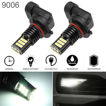 2Pcs 24W Car 9006 HB4 Waterproof 3030SMD Fog Lamp Daytime Running Light 6000K 2400LM LED Automotive Turning Parking Bulb for Car