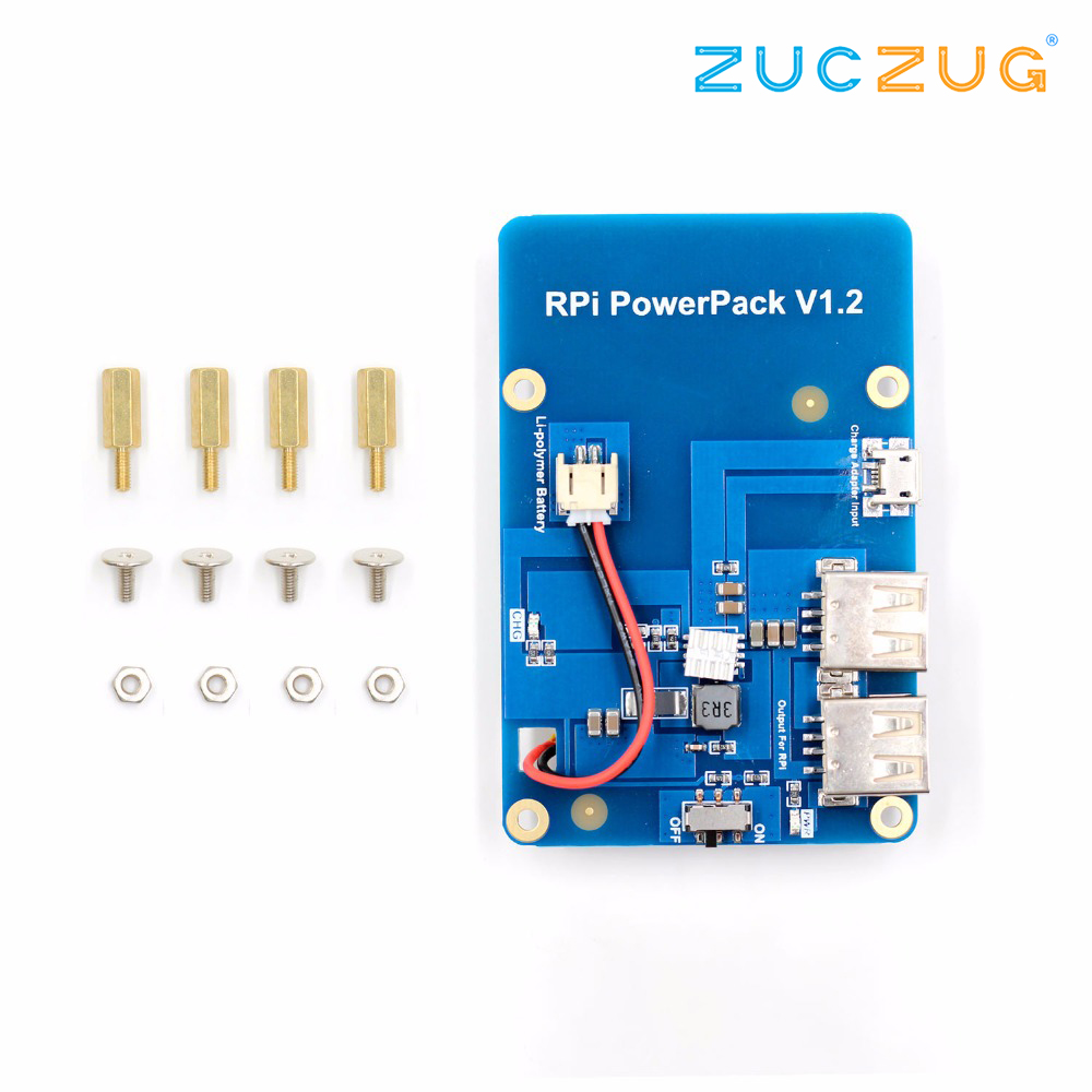 Lithium Battery Pack Expansion Board Power Supply with Switch for Raspberry Pi 3,2 Model B,1 Model B+ Banana PiLithium Battery Pack Expansion Board Power Supply with Switch for Raspberry Pi 3,2 Model B,1 Model B+ Banana Pi