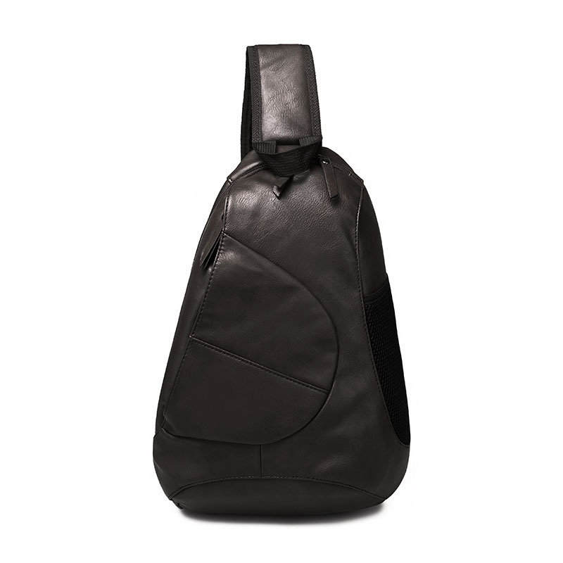 Men Chest Bags Zipper Open Flap Saddle Fashion Pu Leather Small Crossbody Travel Shoulder Bag Vintage Man Messenger Sling Bag-in Waist Packs from ...