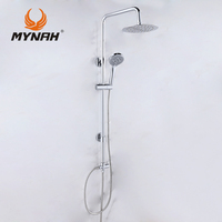 MYNAH Russia free shipping Classical style Bathroom Shower Faucet Bath Faucet Mixer Tap With Hand Shower Head Set Wall Mounted