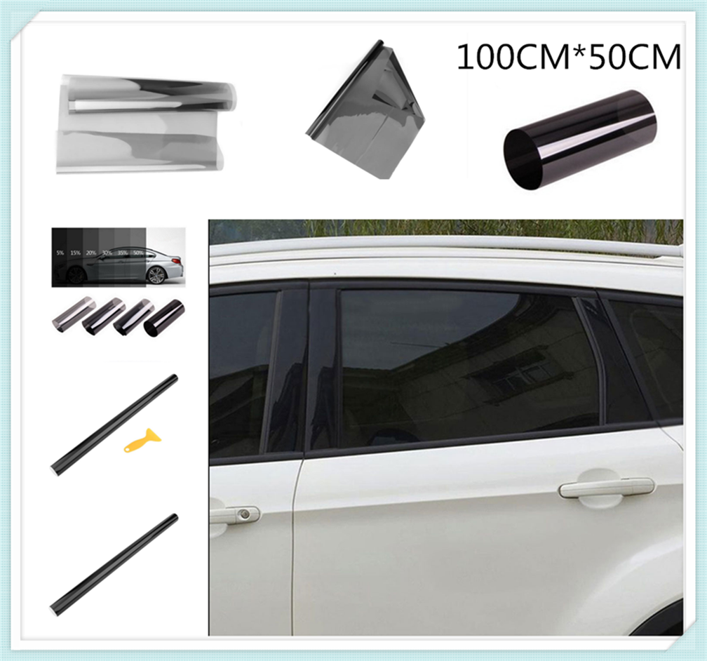 >1mx50cm car glass window solar film stickers heat insulation sunscreen for Ford Transit <font><b>Ranger</b></font> <font><b>Mustang</b></font> <font><b>Ka</b></font> Fusion Focus F-150