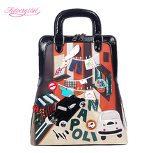 Aidocrystal Hot selling PU women handbag DIY cartoon one shoulder bag women big size bag