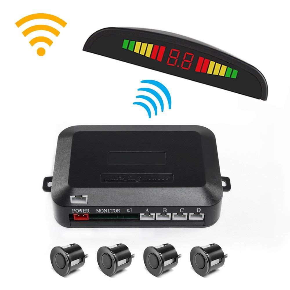 Drahtlose Auto Auto Parktronic Parkplatz Sensor System Mit 4 Sensoren Rückfahr Parkplatz Radar-Monitor Detektor Led-anzeige
