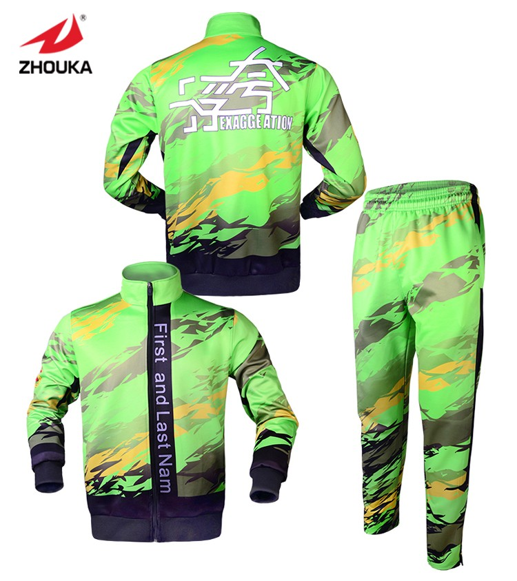 Sizzling Sale Design,totally Sublimation Personalized Jacket,tracksuit Set,inexperienced,settle for Small Amount