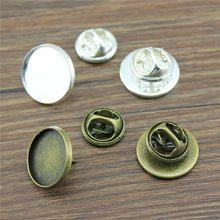 WYSIWYG 10 zestawów 2 kolory Fit 12/14/16/18/20mm materiał miedziany broszka taca baza powrót puste spinki Spacer ustawienia Tie Tack Pins