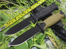 Nwe 2 Options! 1500 Survival Fixed Knives,12C27 Steel Blade Hunting Knife,Camping Tactical Knife.